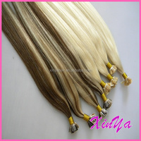 No Shedding no tangle pre bonded hair extension human for flat tip hair
