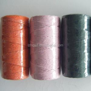 Waxed Polyester Carpet Thread High Strength