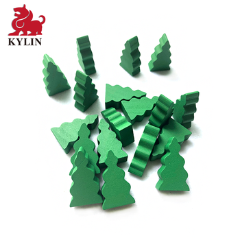 Creative Wood Building Blocks Tree shapes for Kids Preschool Boys and Girls DIY Learning Educational 3D Wooden Meeple
