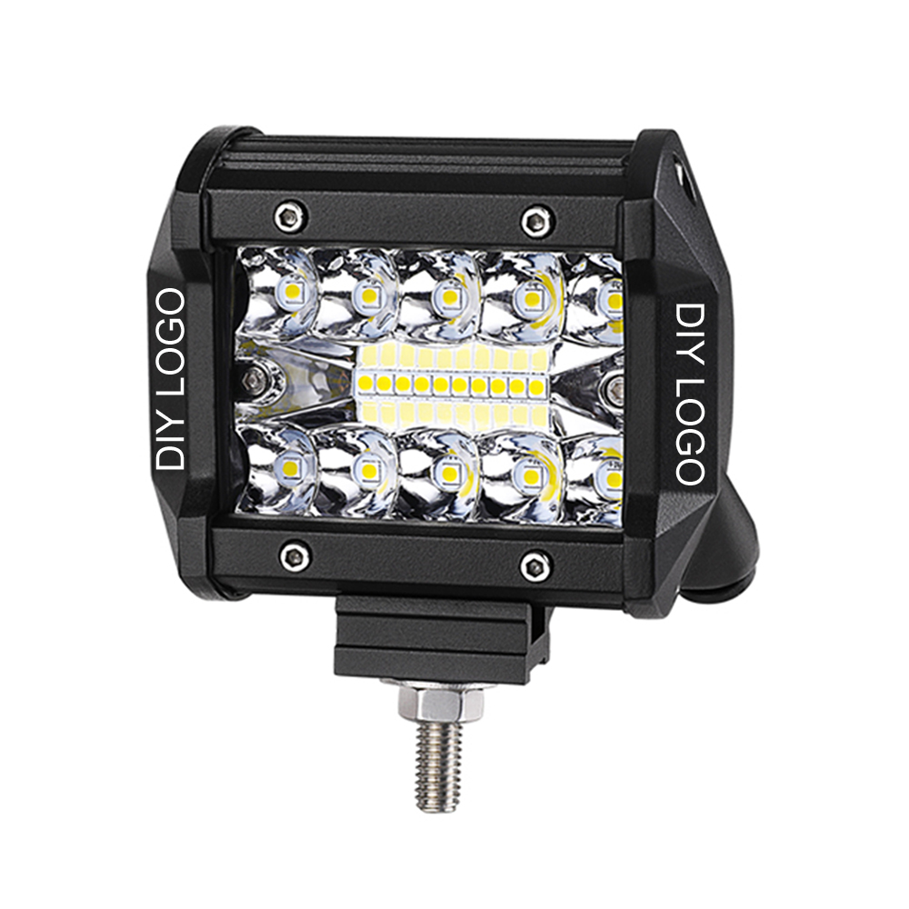 guangzhou led light aluminum housing 4inch 24V 3 row cube farm machinely atv jeep truck offroad led bar