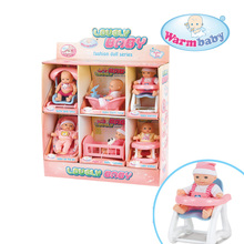 Online shop wholesale lovely mini vinyl 5 inch baby dolls with display package