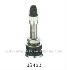 JS430 for motocyles and scooters Chromed Sleeve Snap-in Tubeless Valves