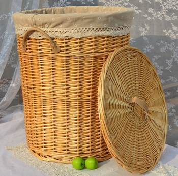 Antique Willow Laundry Baskets