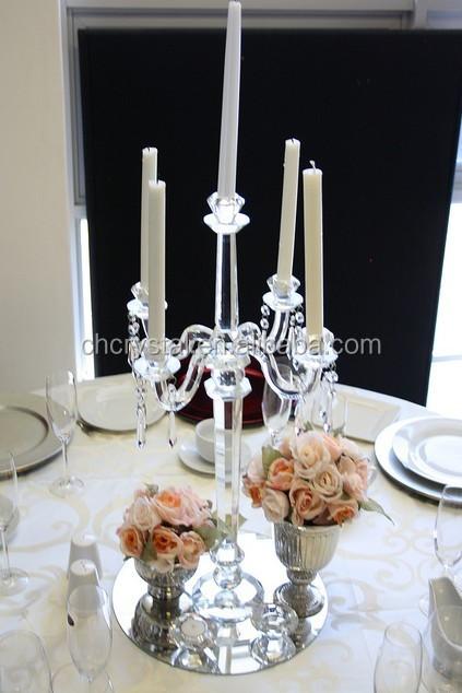 Gold crystal candelabra tall wedding