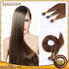 """ Nano Ring Human Hair Extensions 18""""-28"""" Straight Unprocessed Virgin Peruvian Hair """
