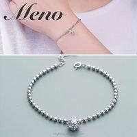Meno S925 silver bracelet lady fashion ball