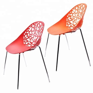 Wholesale modern design cheap outdoor Flower vine PP plastic Chairs for dining room