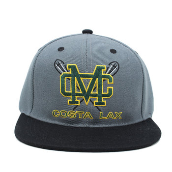 Custom Your Design Own Snapback Hats And Caps Embroidery Logo Printing Underbrim Embroidered Flat