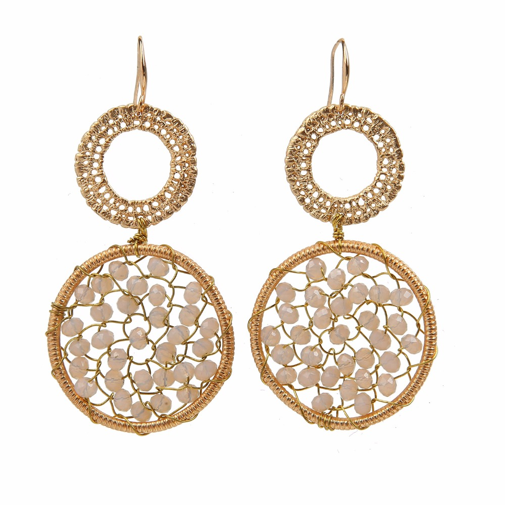dream catcher crystal gold earring findings women jackets