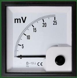 72*72mm Ac/dc Analog Panel Meter Ac 600v Voltmeter