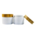 Hot sale 15g 30g 50g 100g 150g 250g cosmetic frosted clear cream PP bamboo jar with lid