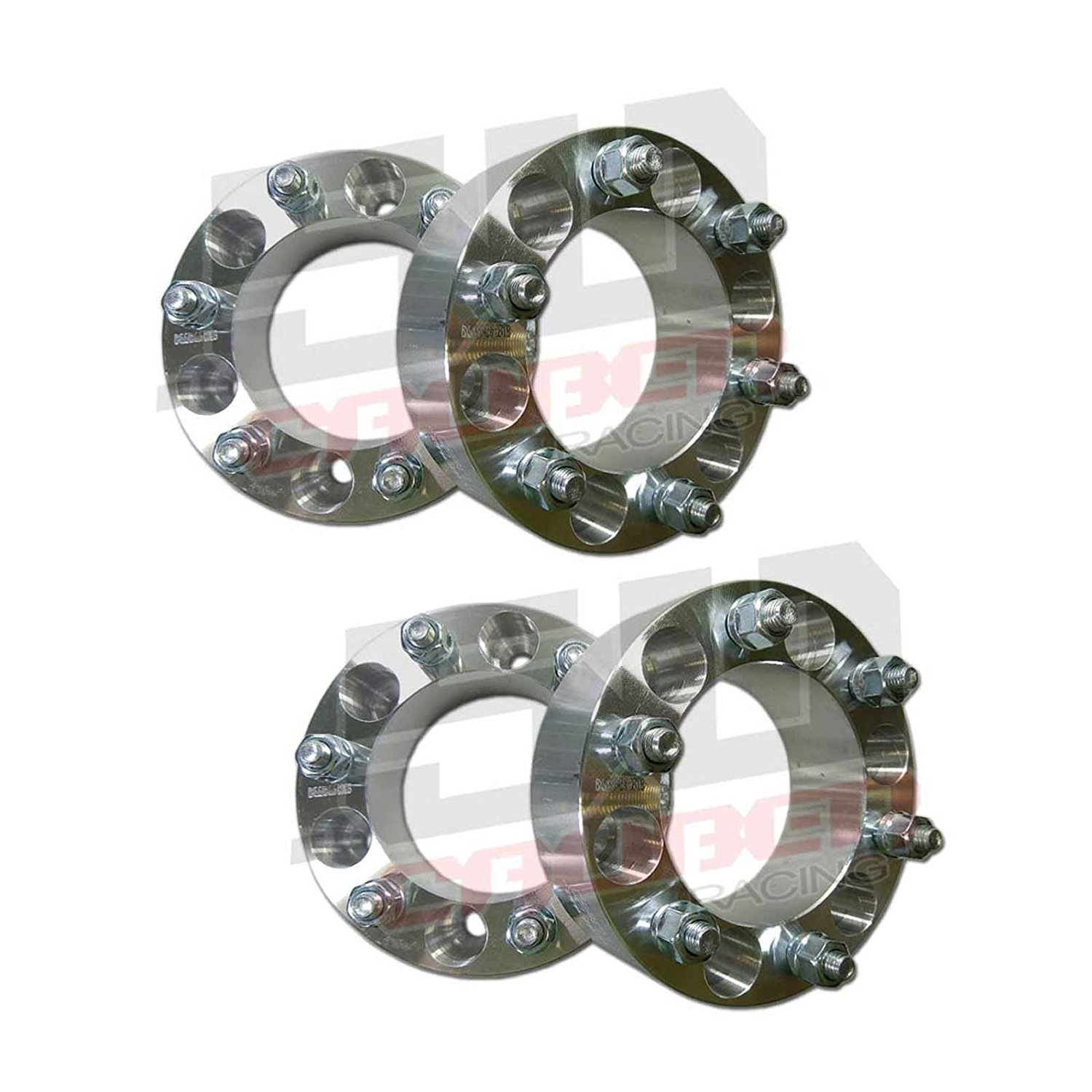 One Pair (2) of Wheel Spacers - 6 x 135mm Bolt Pattern, 2 Inch Thick , 14x2.0mm Studs – 04-Up 6 Lug Ford F-150 Raptor Expedition Lincoln Navigator Mark LT [5284-A34]