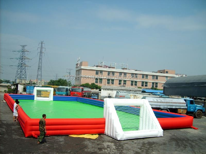 Best quality inflatable sports game football court soccer field