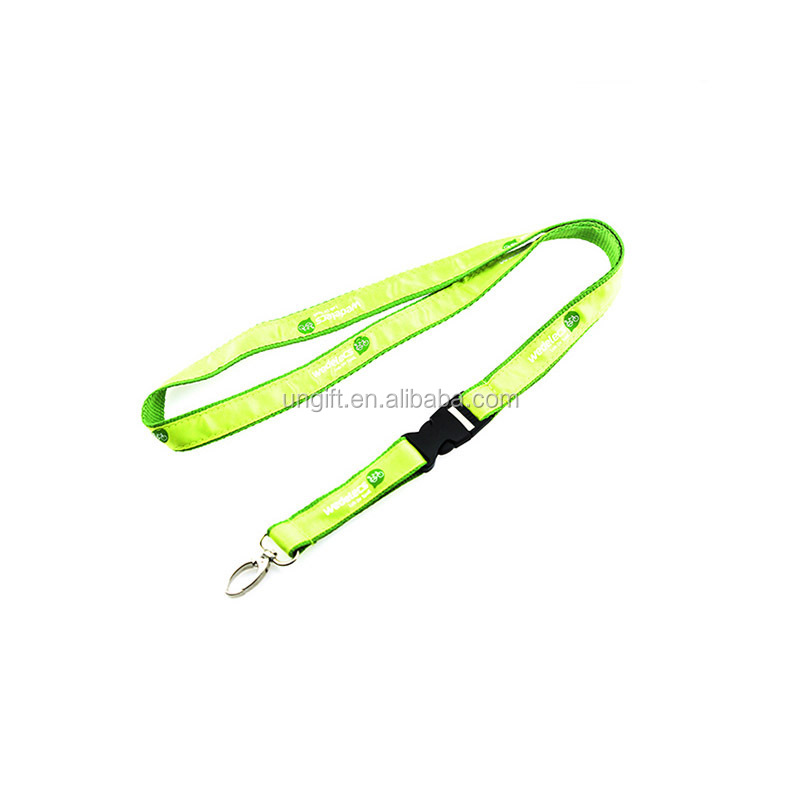 Customized Sublimation Polyester White Printing blank Webbing Lanyard in rolls