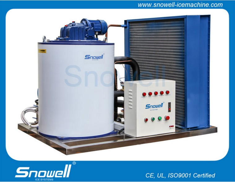 worldwide most advanced ideal Flake ice machine 1Tons/Days used in boat snow flake ice machine