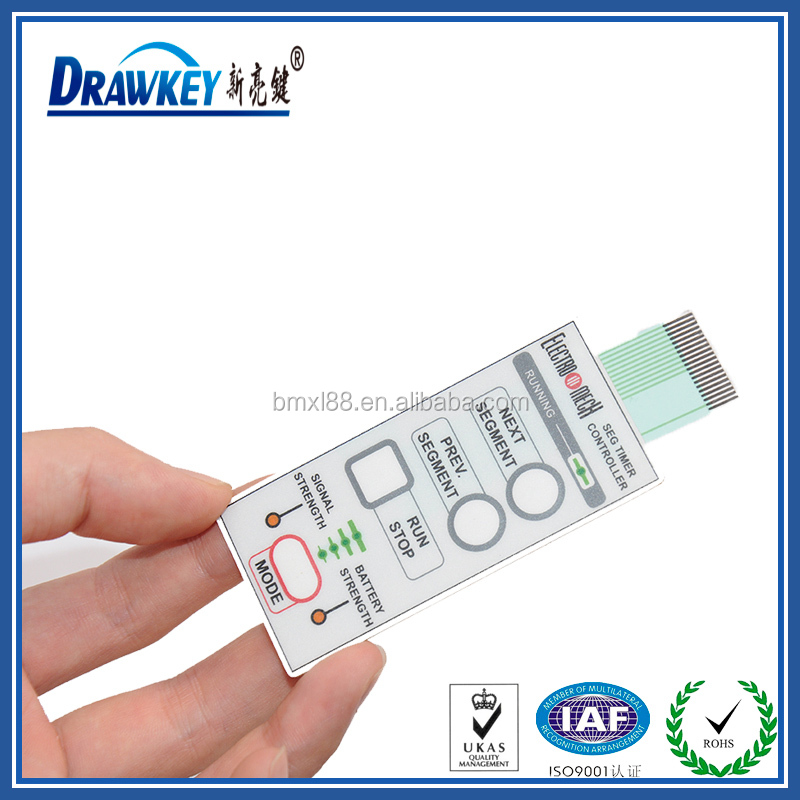 Embedded LED Remote Control Membrane Switch With Metal Dome And 3M Rear Adhesive