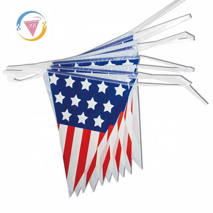 """Cyprus Bunting 9M Metre Length With 30 Flags 9/""""X6/"""" 100/% Woven Polyester"""