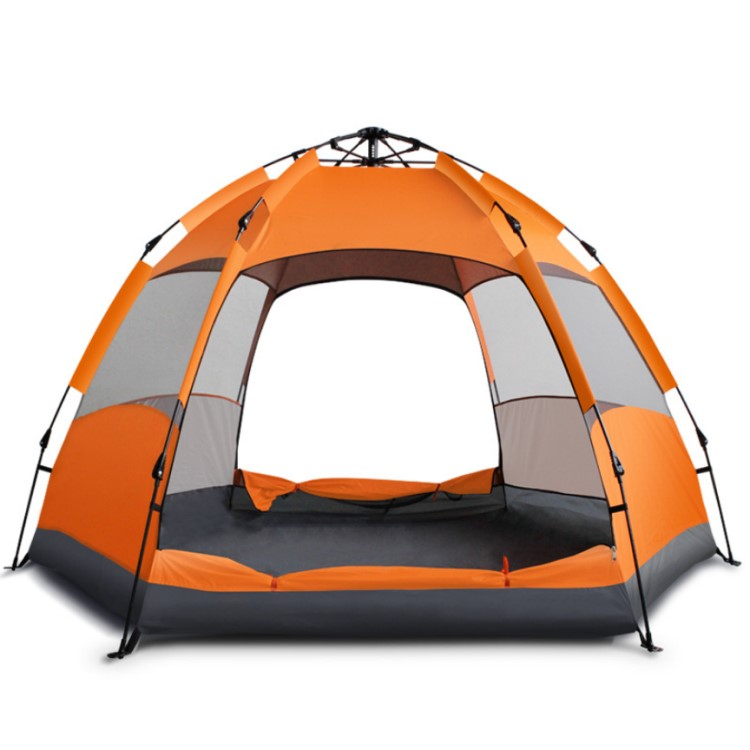 Keluarga Ukuran 5-8 Orang 3 Season Waterproof Double Layer Camping Tenda