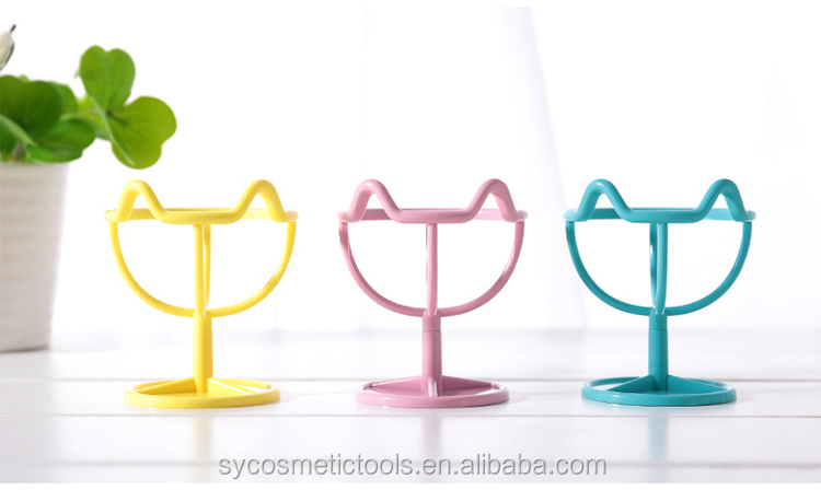 Cosmetic plastic display stand beauty sponge holder drying blender silicone makeup sponge holder