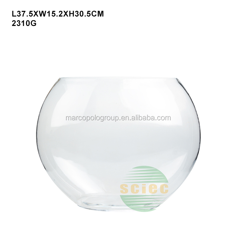 Popular chinese supplier round shape glass aquarium fish tank