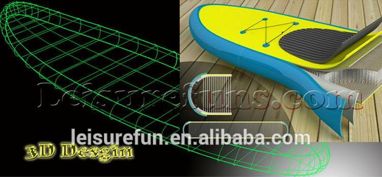 with high density China supplier inflatable windsurf board