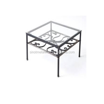 French Decorative Wrought Iron Coffee Table Base For Gl Top Metal Small Modern Bases