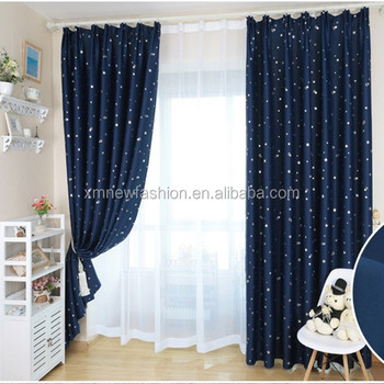 Hotel Room Curtain ,curtains Modern, Simple Star Curtain Design