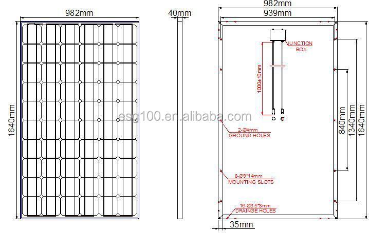 Esg High Efficient Flexible 150w Mono Solar Panel With Pv