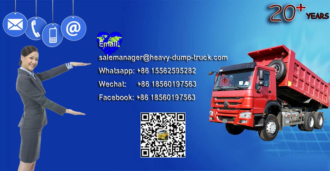 Sinotruk Howo Truck prijs voor 6X4 25 ton Dump Kipper ghana