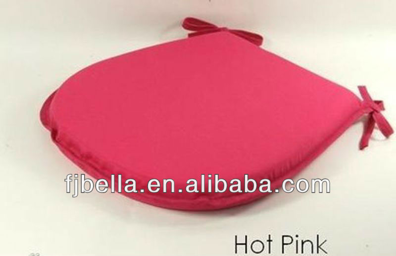 Hot Pink Good Quality New Tie On Dining/Garden Chair Seat Pads Foam Filled Seat Outdoor Cushion