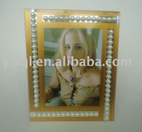 bead mirror glass photo picture frame