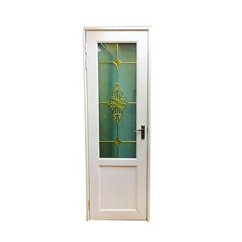 Upvc Material Toilet Door Cheap Bathroom Door With Glass