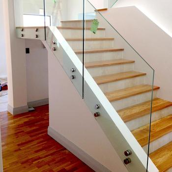 Stair Handrail Glass Railing Types With Patch Fittings