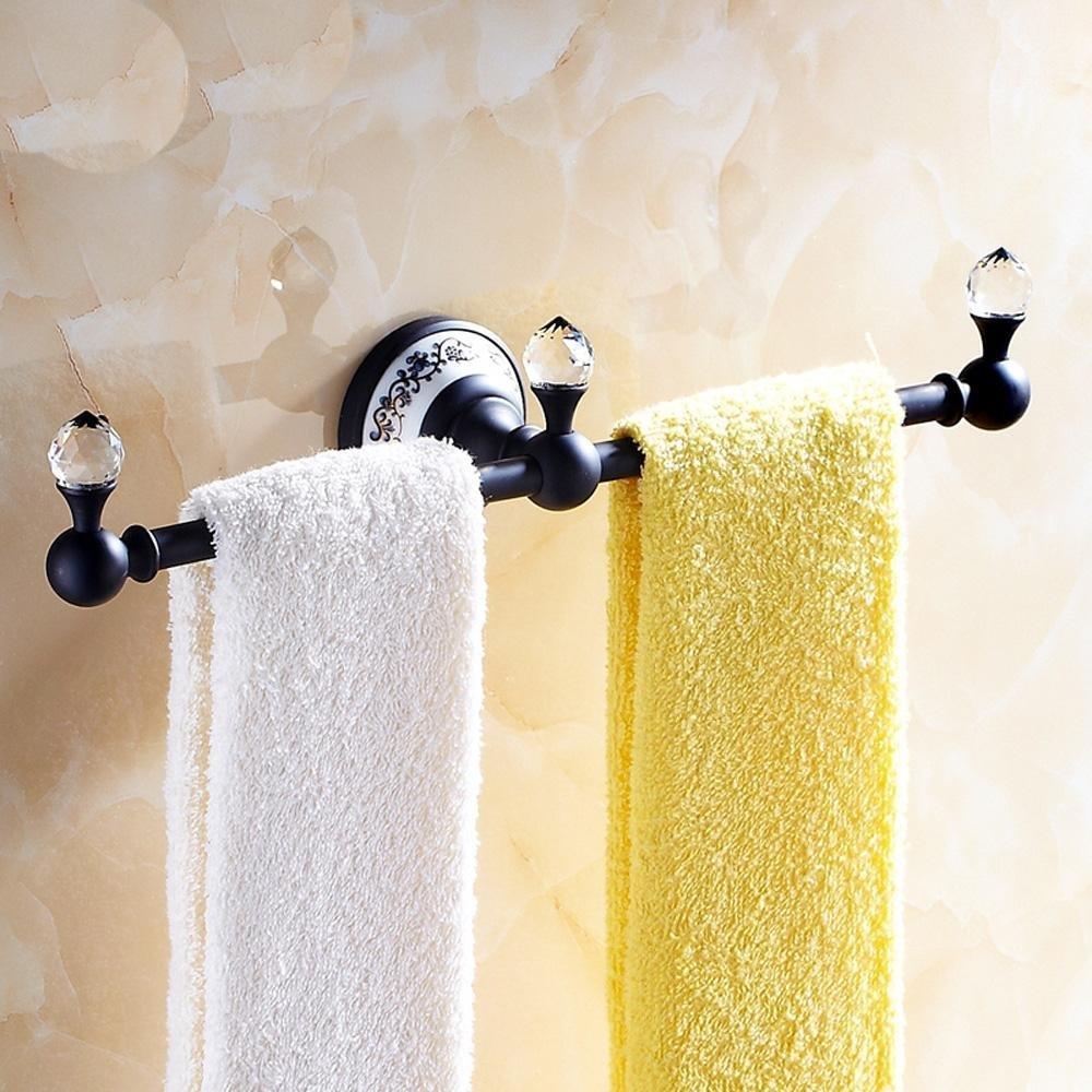 CU Antique gold/rose gold continental blue and white porcelain bathroom Towel Bar Towel rack black copper single lever bathroom , black