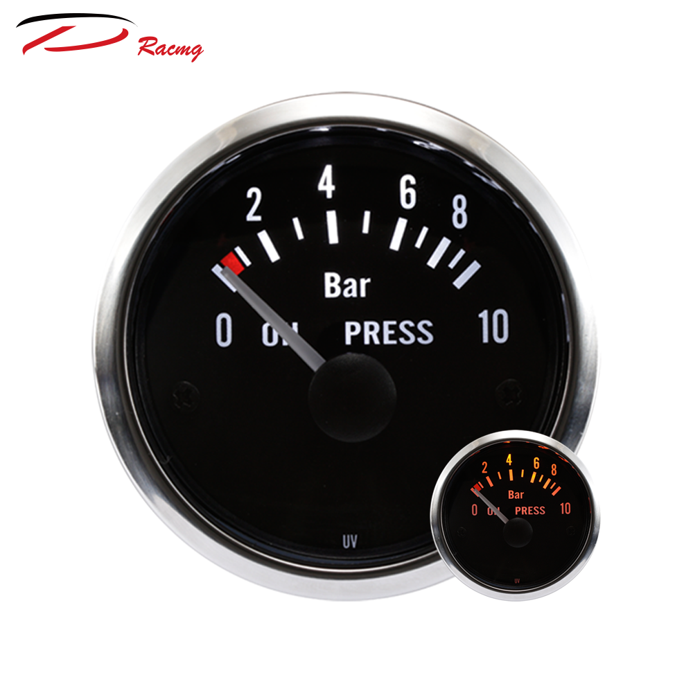52mm 2 Color Led Backlight Boat Oil Pressure Gauge - Buy Depo Auto Meter  Oil Needle Pointer Gaug For Yacht,Black Face Rim Stainless Steel Convex  Lens ...
