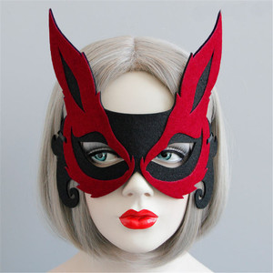 Halloween half face masks the fox face masks adult children holiday party mask