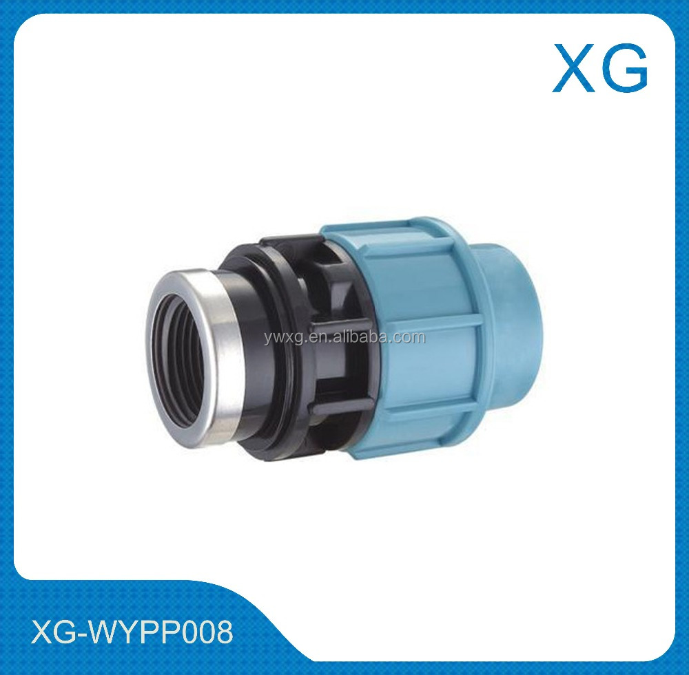 PP/PB/PE irrigation pipe fittings male female threaded union DIN staindard