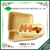 Plastic pp rattan woven wholesale bread baskets