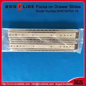 BWD3076A-16 45MM Width 1.2*1.2*1.5mm Thickness Ball Bearing Drawer Teflon Slides For Furniture Hardware