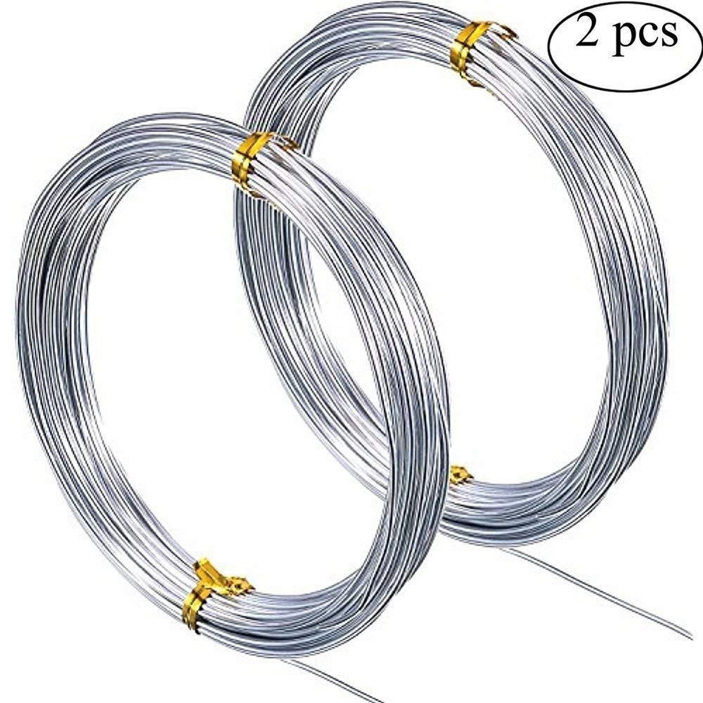 Get Quotations  C2 B Roll Silver Aluminum Craft Wire2 Mm Diameter Bendable Metal Craft Wire