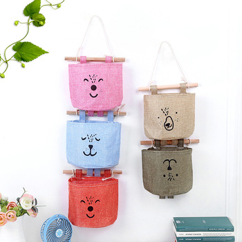 Wholesale Hanging Storages Bags Collapsible Cotton Bags Mess Organization Bags