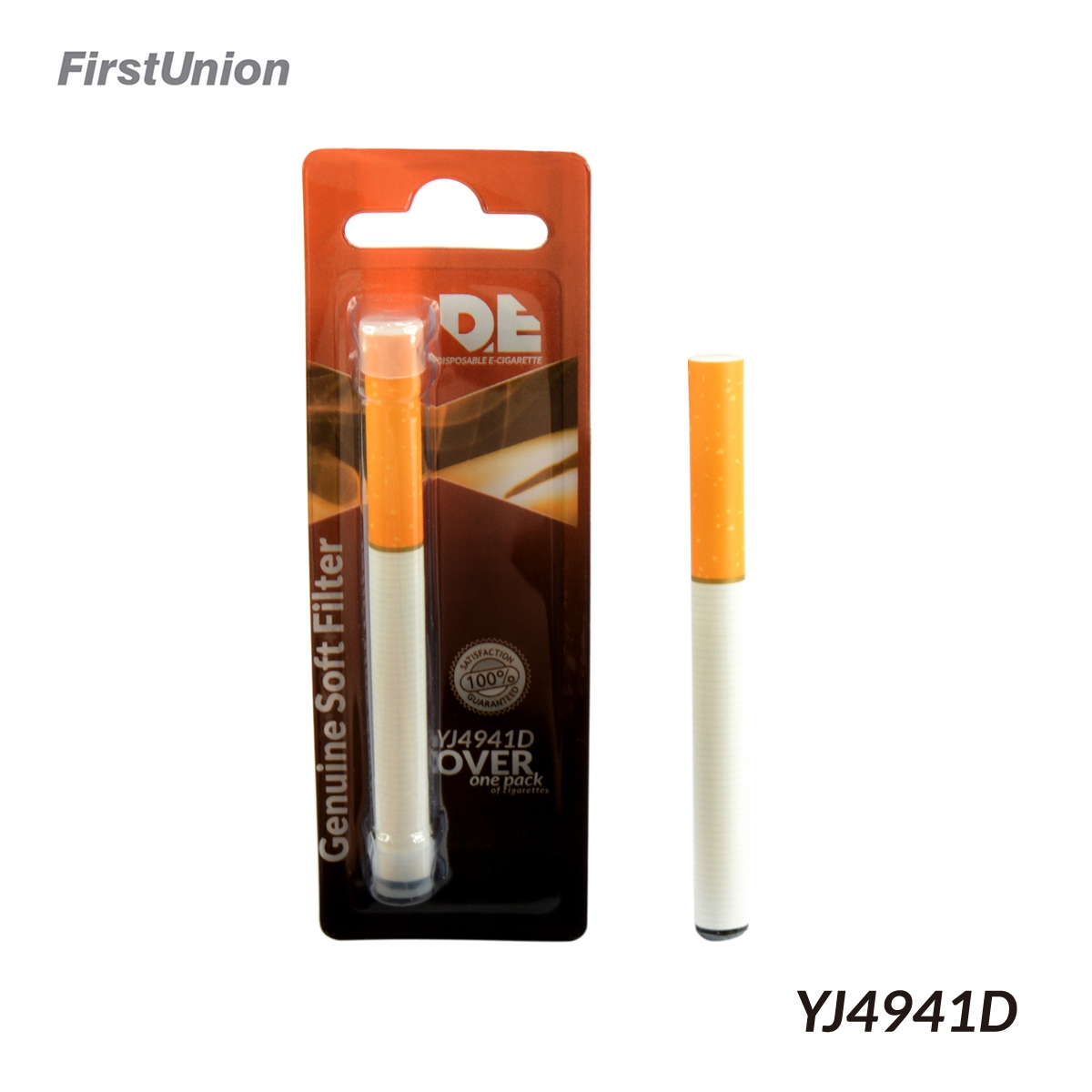 Firstunion 2014 cheap disposable electronic cigarettes YJ4941D genuine soft filter e cigarette china