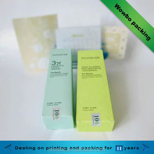 Eco-friendly cosmetics face wash packaging paper box