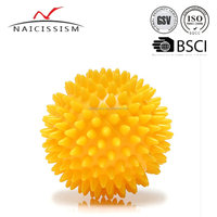 yellow small spiky massage ball