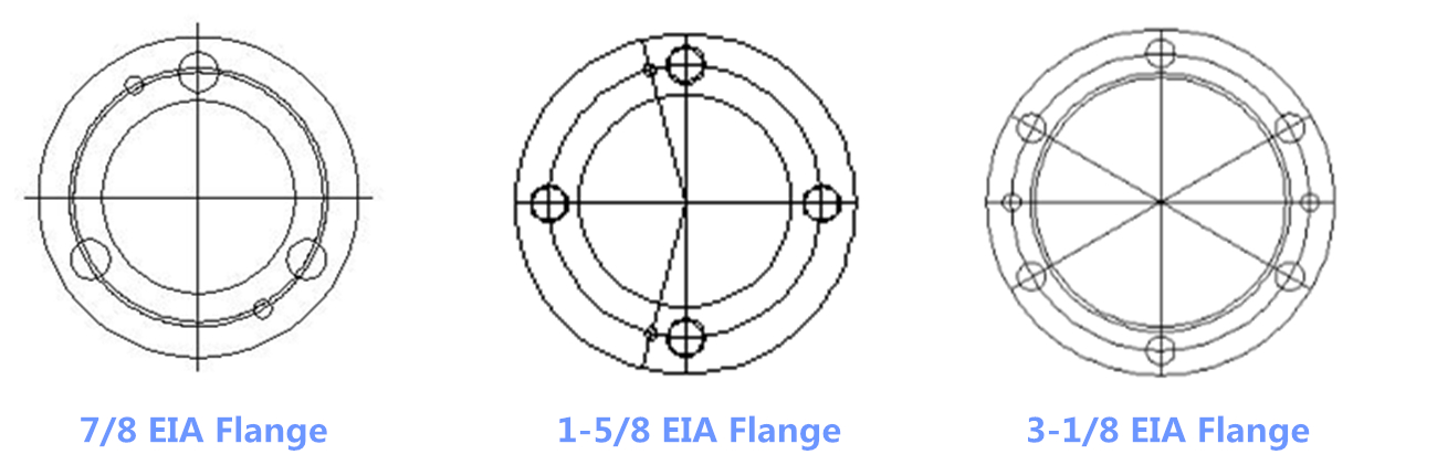 RF coaxial connector adapter 1-3/8 EIA to 1-5/8 EIA double flange adapter eia flange connector