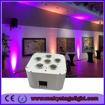 Mq G119 Wireless Led Uplighting Maky Smart Dj Lighting 6pcs 18w Battery Operated Light Flat Slim Par Can