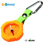 Compass +Belt Carabiner Sports Game,Keychain Compass Outdoor Gear Kid Toy,Silicon Casing Compass Magnetic Needle