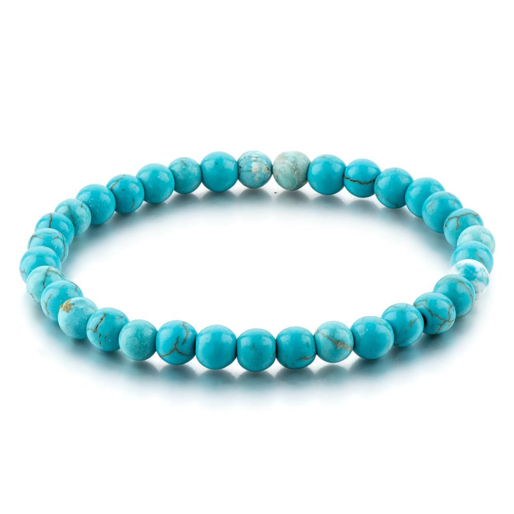 Turquoise Stone Bracelet Handmade 6mm Beads Jewellery For Women China Fashion Men