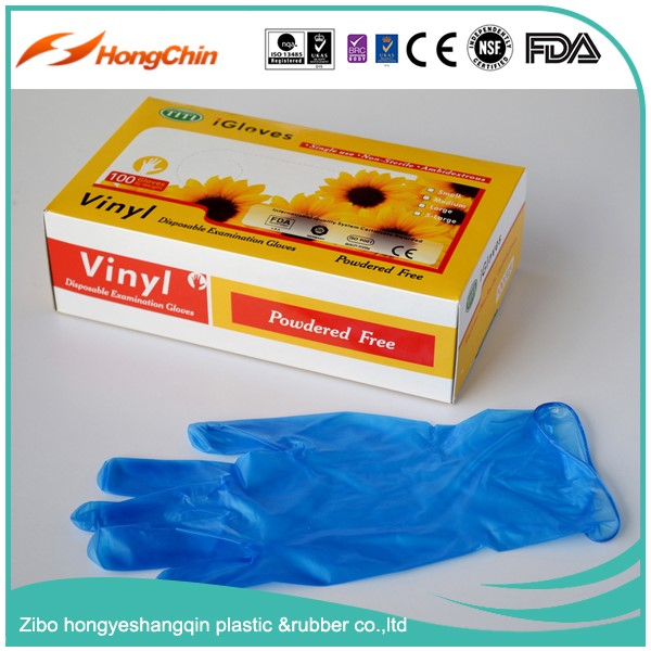 CE,FDA,ISO approved medical disposable latex surgical vinyl gloves