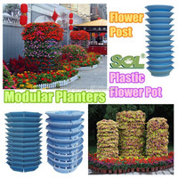 Outdoor metal hanging large planters Plastic planters modular